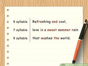 how to write a haiku poem with sle poems wikihow