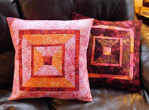 Quilted Pillow Covers by Quilted Batik Accent Pillow Covers Shams 18 Inch Crimson Gold