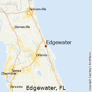 map of edgewater florida best places to live in edgewater florida