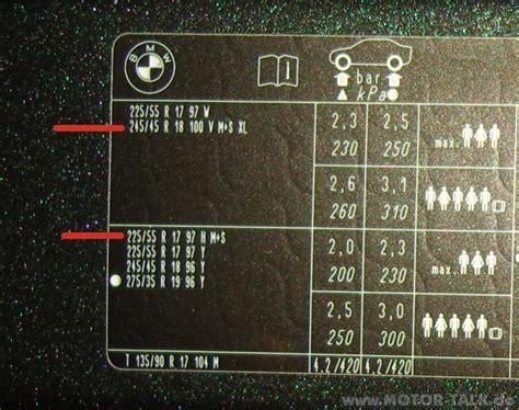 Motorrad Winter Luftdruck by Luftdruck Luftdruck Winterreifen Bmw 5er F07 Gt F10