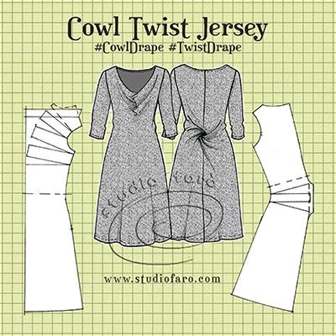 pattern maker new jersey cowl twist jersey dress huge thanks to all the fans