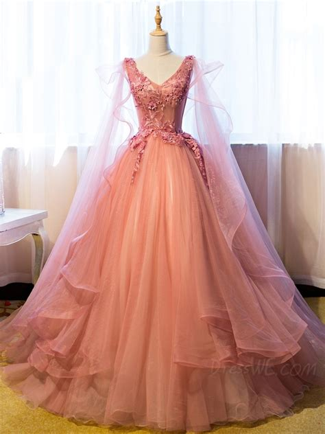 bal gowns vintage ball gown v neck appliques beading floor length