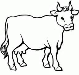 cow template cow free printable coloring pages