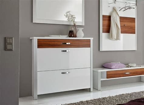 stylish gloss white shoe storage cabinet ideas for modern