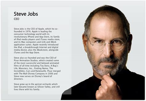 quick biography of steve jobs apple inc on emaze