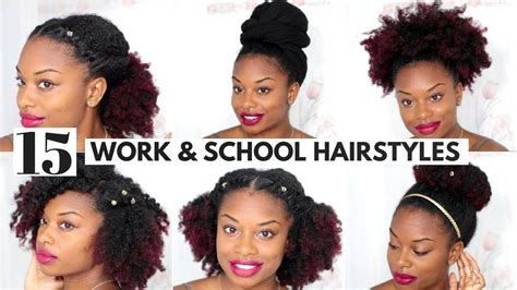 Easy Hairstyles For Black Hair by Afro Hairstyles For Work Hairstyles