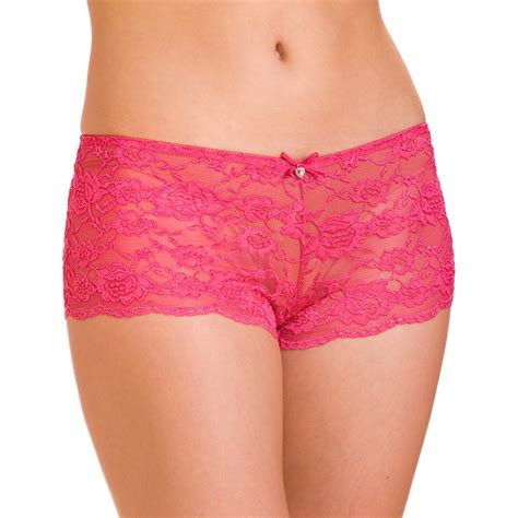new womens ladies lingerie lace bow french knickers boxer