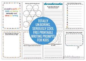 fun free printable writing prompts for kids picklebums