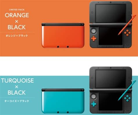 nintendo 3ds xl colors 3ds xl gets more colorful in japan orange and turquoise