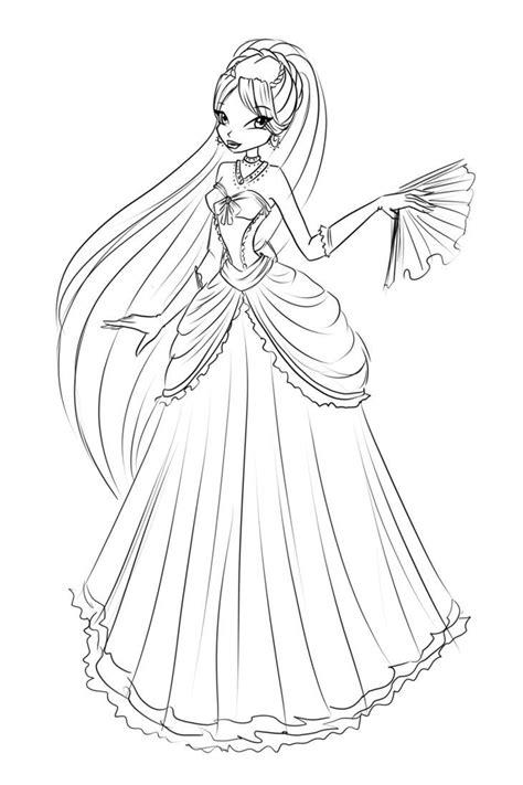 coloring page of princess diana sketch diana dress by laminanati on deviantart
