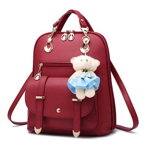 Tas Ransel Import Asli jual tas ransel wanita kulit import asli warna merah