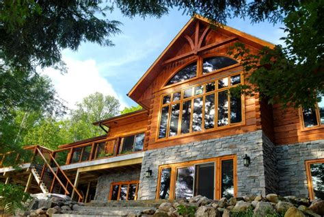 Lake Of Bays Log Home Floor Plans By 1867 Confederation Hybrid Timber Frame House Plans