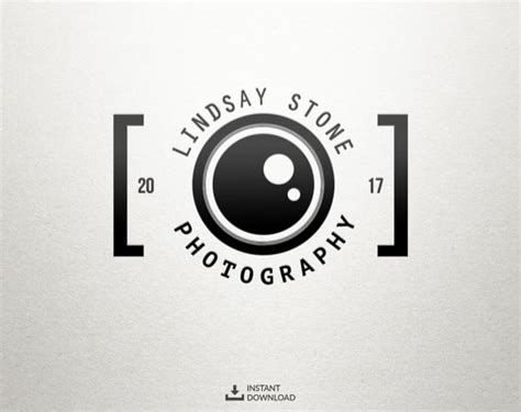 watermark templates for photoshop camera logo photography logo instant download logo diy