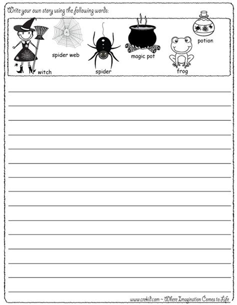 halloween writing themes halloween writing fun write your own story using our