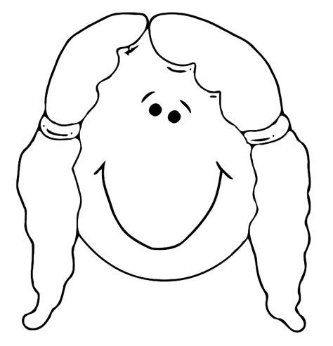 girl face outline clip art human face outline cliparts co
