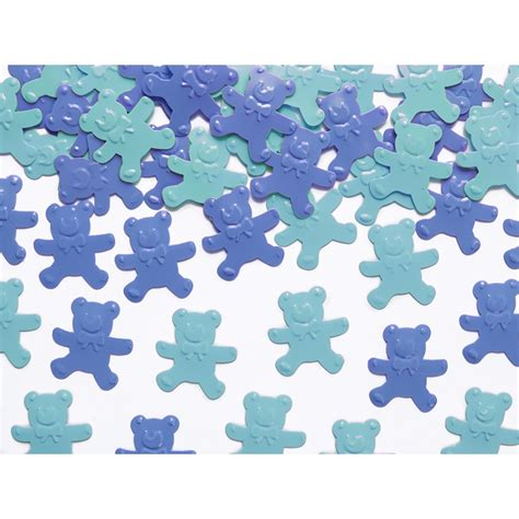 Decoration De Table Bleu Turquoise by Confettis De Table Oursons Bleu Turquoise