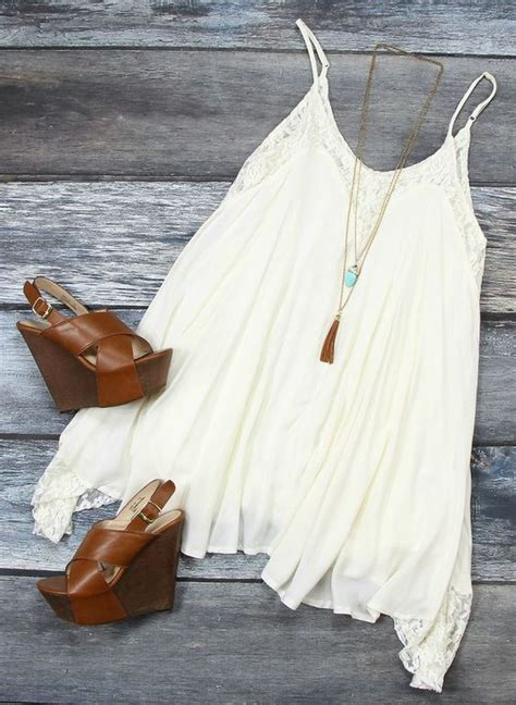 White Wedges Dress 20 ideas with wedges pretty designs