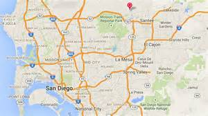 map of san diego county california 2 000 without power in east county times of