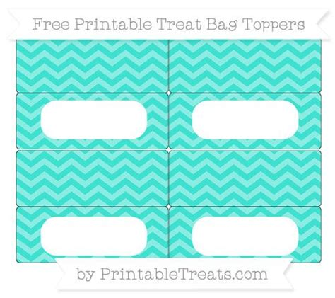 free turquoise chevron simple treat bag toppers treat