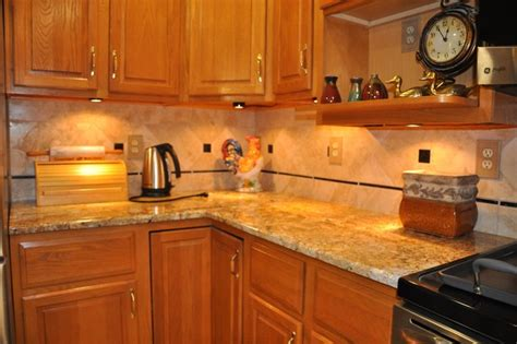 Pictures Of Kitchen Countertops And Backsplashes Granite Countertops And Tile Backsplash Ideas Eclectic Kitchen Indianapolis By Supreme