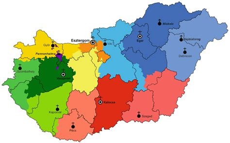 catholic diocese map file map of hungarian catholic dioceses png