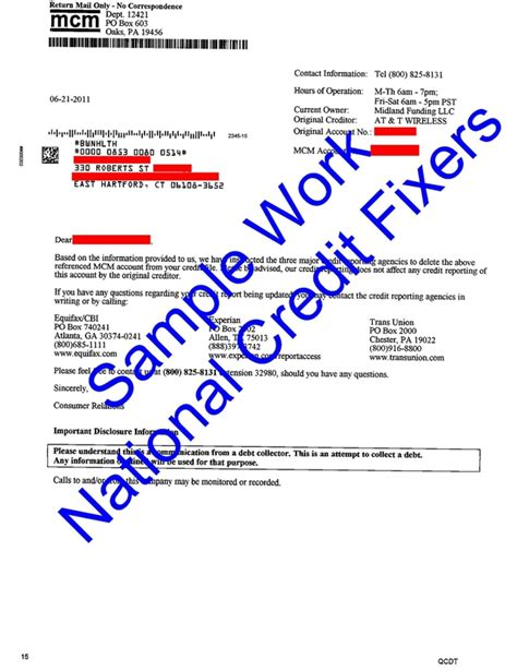 Credit Report Letter Of Deletion Credit Repair Success Story