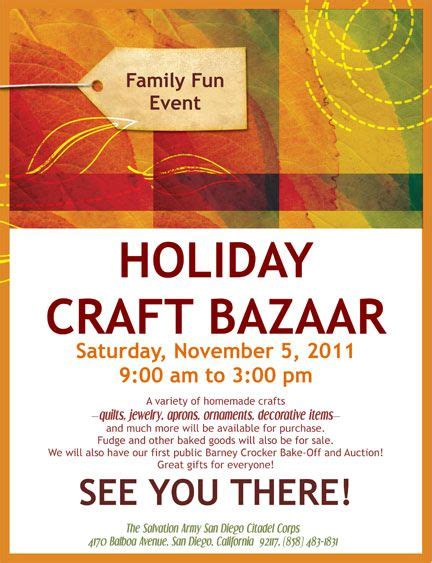 Craft Sale Flyer Template fall bazaar flyer template search fall bazaar