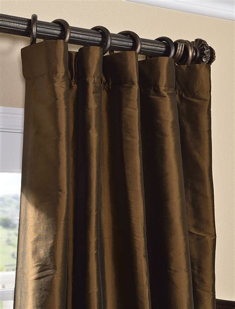 chocolate silk curtains chocolate brown thai silk curtain home pinterest