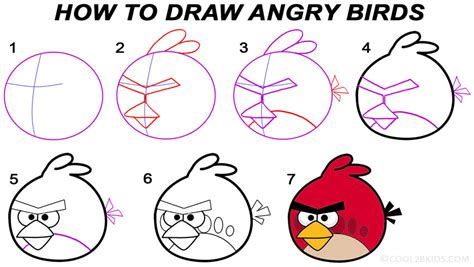 class in cartooning draw and paint the angry birds