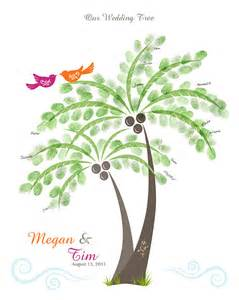 Wedding Tree Guest Book Free Template by Fingerprint Tree Wedding Guest Book Template