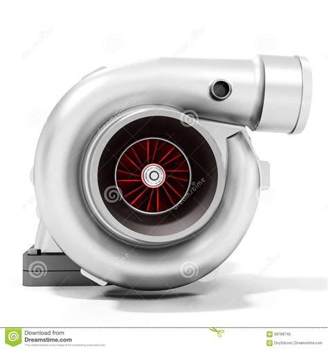 stock turbo cars 3d turbine turbo charger car booster stock illustration