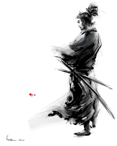 superhero art miyamoto musashi 宮本武藏