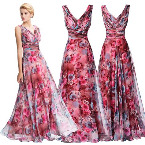 Swing Kleid Chiffon by Floral New Chiffon Bridesmaid Evening Formal