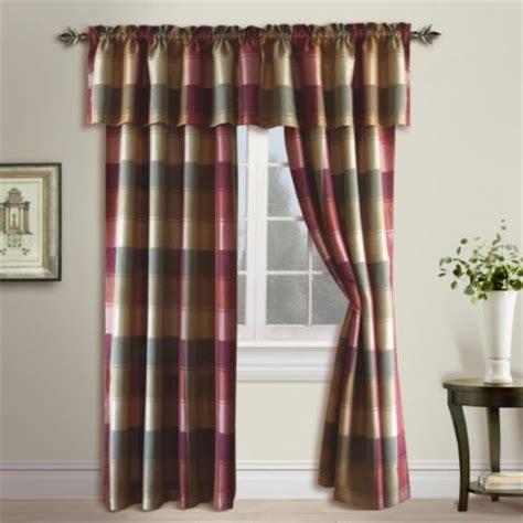 walmart plaid curtains united curtain plaid curtain panel walmart com