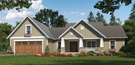 Home Plan One Level Craftsman With Character Craftsman House Plans One Level