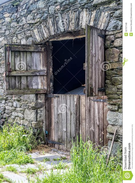Free Barn Plans old stone barn stock photo image of door village