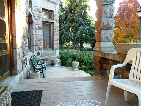 castle marne bed breakfast front porch on a gorgeous fall day in november picture