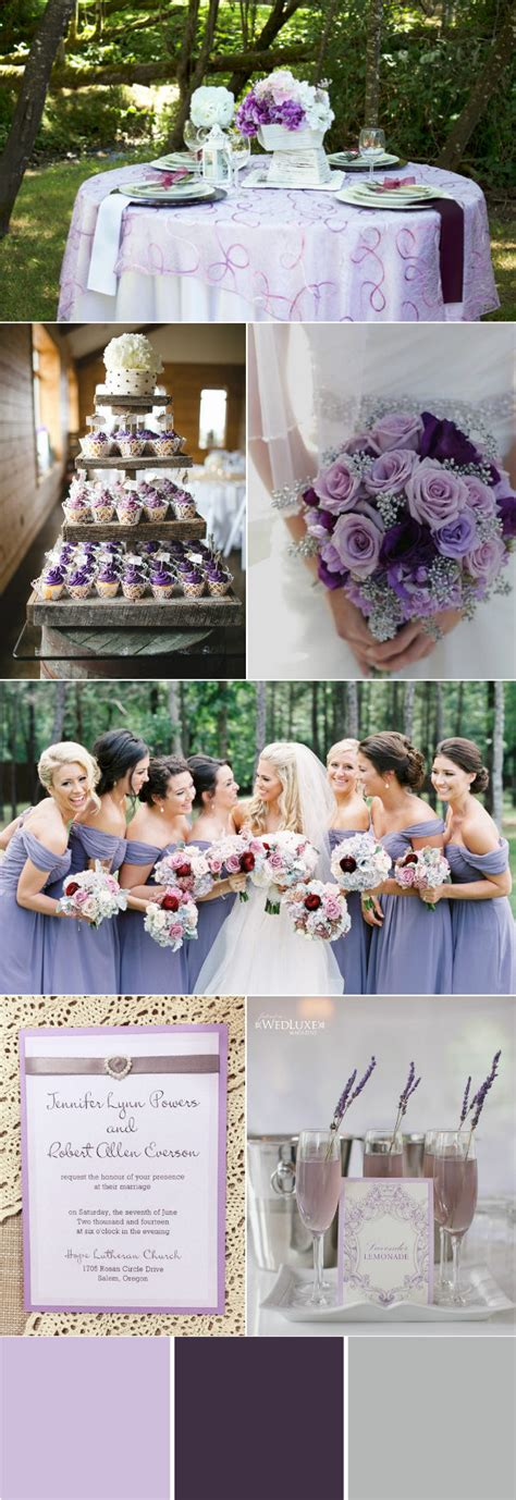 stunning wedding color ideas in shades of purple and silver elegantweddinginvites