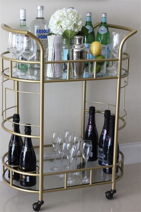 how to decorate a bar how i decorate my gold bar cart bisous brittany