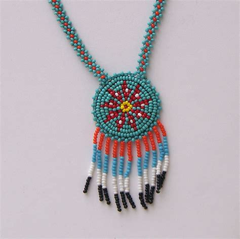 American Beaded Necklace 1965 Tourist Souvenir