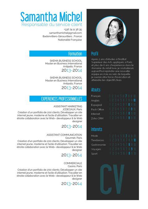 Presentation Du Cv En Francais by Vivace Un Cv Original Dont La Pr 233 Sentation Est