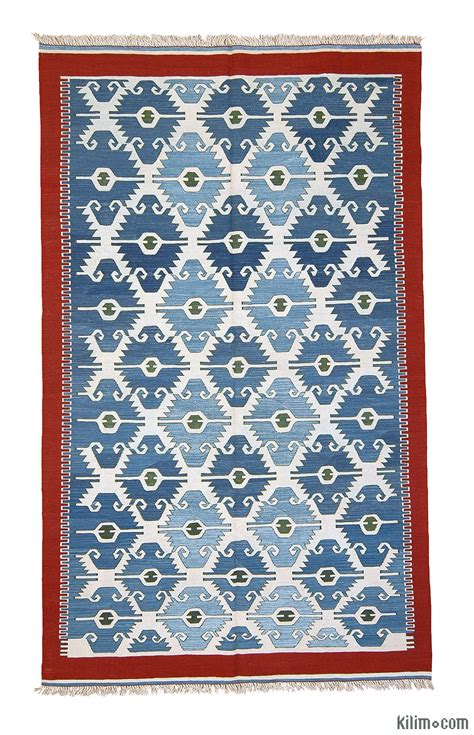 turkish kilim rug k0003902 blue light blue new turkish kilim area rug