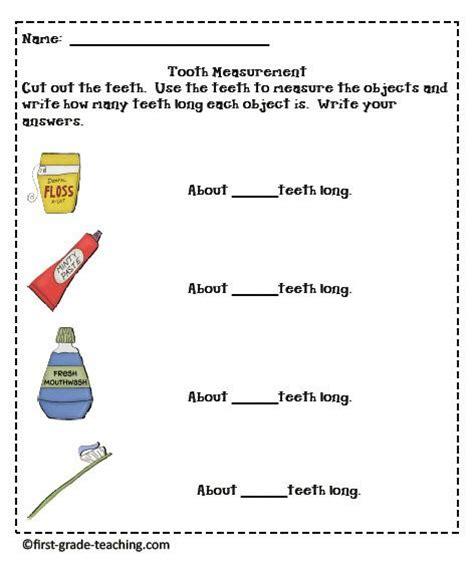 Dental Health Worksheets by Tooth Measuring Children S Dental Health Month