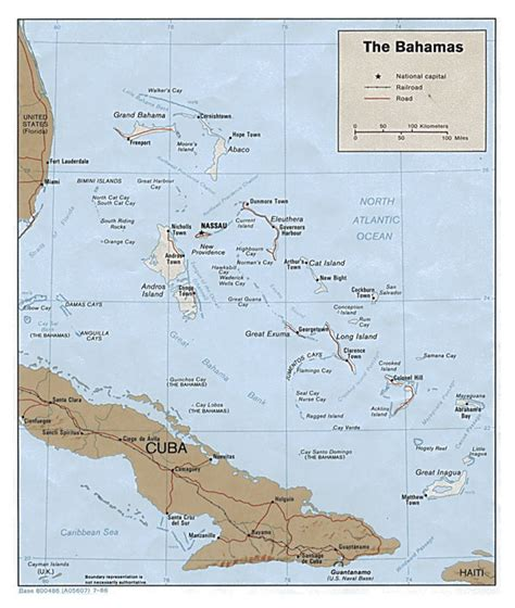 political map of bahamas large detailed political and relief map of bahamas