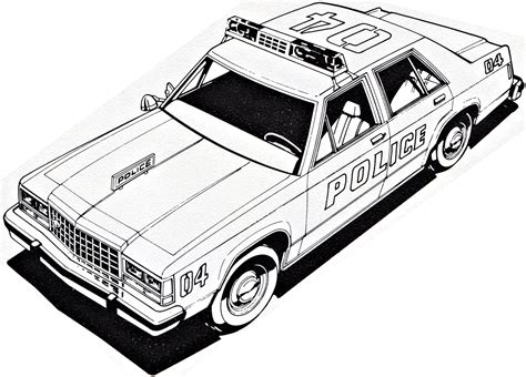 crown victoria coloring page ford ltd crown victoria police coloring sheet by