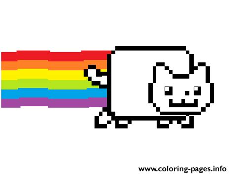 coloring page nyan cat nyan cat with color coloring pages printable