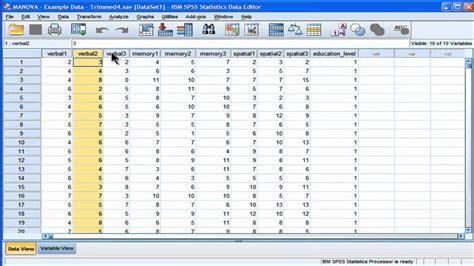 spss tutorial multivariate analysis manova spss part 1 youtube