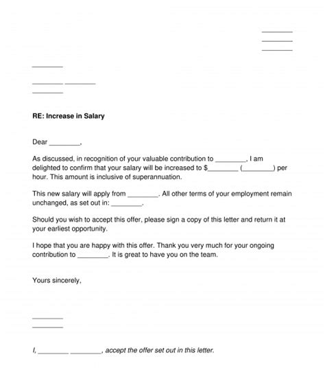 salary increment letter employee collection letter
