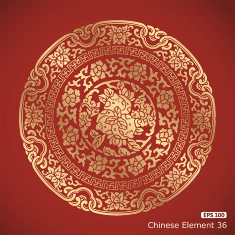 pattern vector chinese chinese pattern styles vector material 04 vector pattern