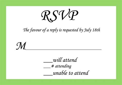 Wedding Invitation Reply Card Template by Wedding Response Card Wording Card Design Ideas